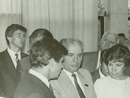 Dmitry Fonarev with Gorbachev